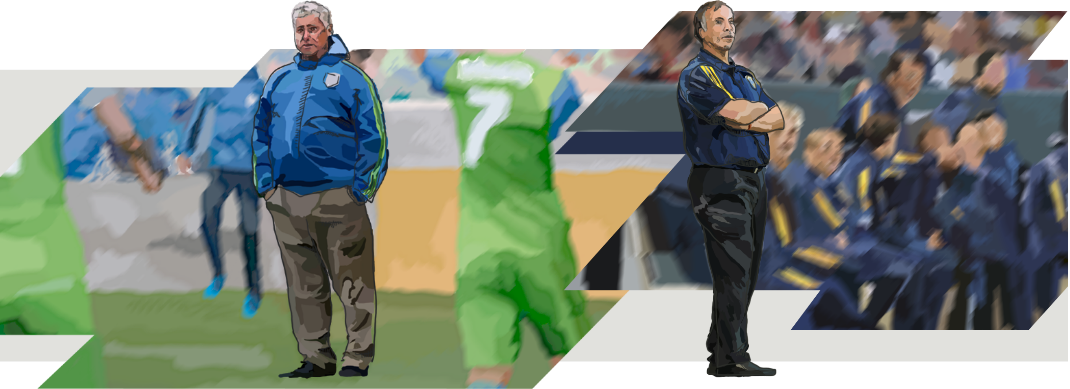Illustration of Sigi Scmid and Bruce and Arena.