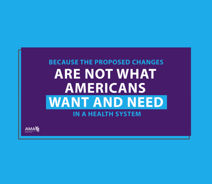 Because the proposed changes are not what Americans want and need in a health system