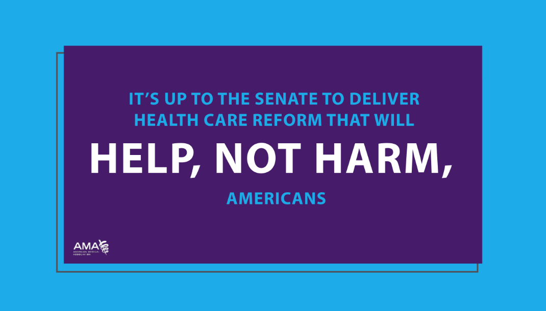 It's up to the Senate to deliver health care reform that will help, not harm, Americans