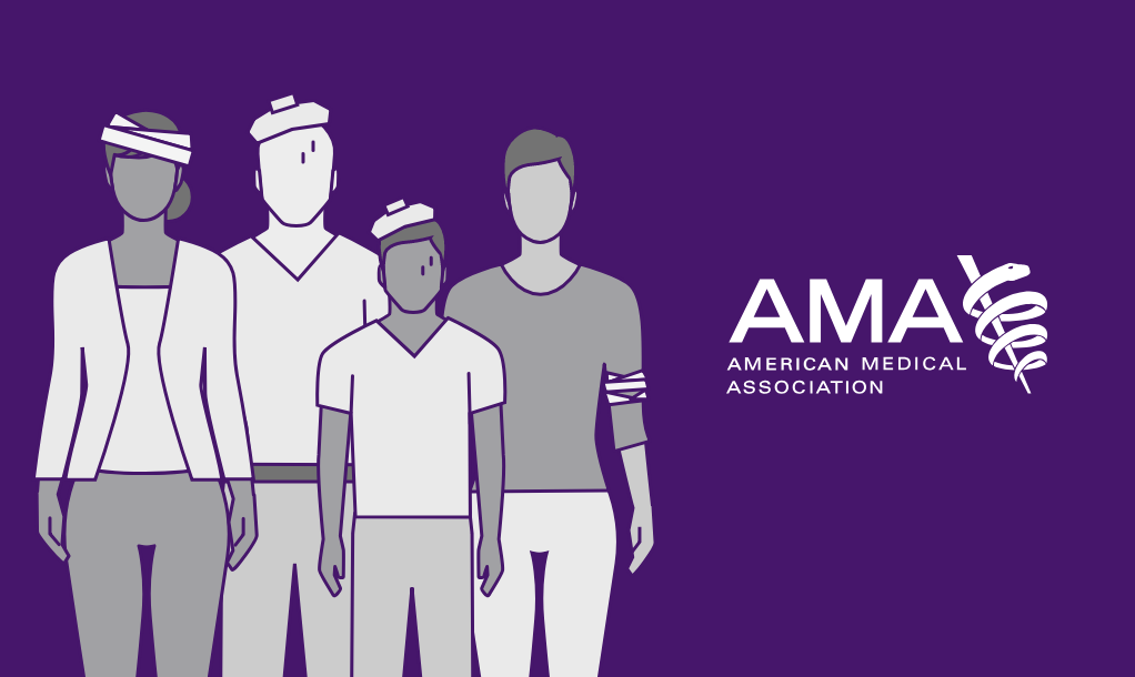 Patient figures and the AMA logo