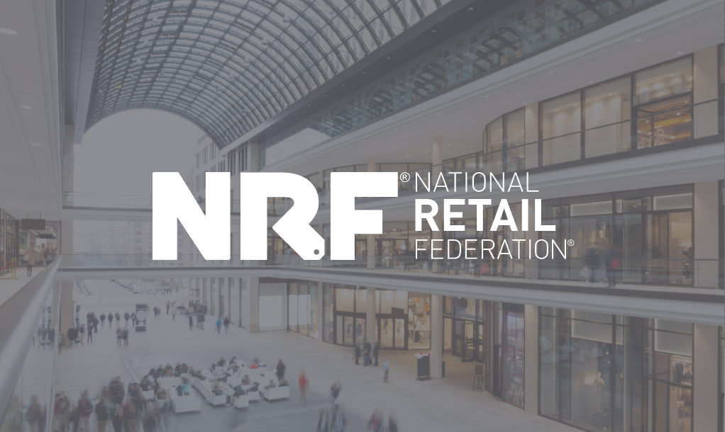 NRF logo with a retail shopping space in the background